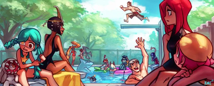 Skullgirls PC art Gallery - Pool party! KNKL by KNKL