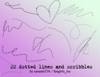Dotted lines and scribbles by Sanami276