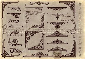 Ornamental design borders LZ 8 by Lyotta