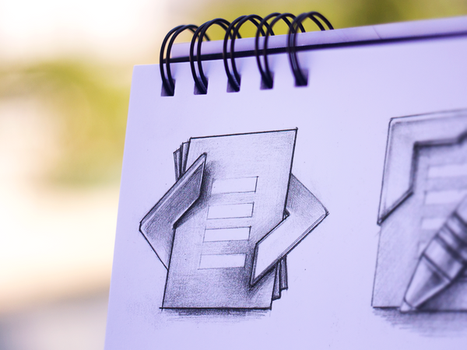 TypeMetal App Icon Sketching by Ramotion