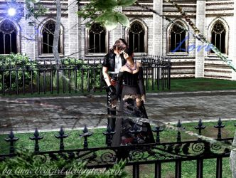 Squall dissidia with Lulu by linneVegGirl
