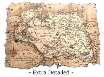 Altered Skyrim Collector's Map by SoulRebel9