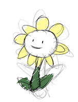 Flowey the flower by Serri765