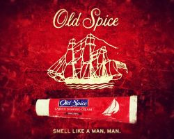 old spice shaving cream ad version two.. by ani67