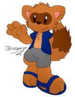 Daily Character #063 - Cody the Raccoon by JBtheShadow