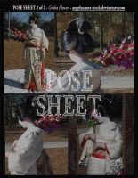 POSE SHEET 2 of 2: Geisha Flowers by themuseslibrary