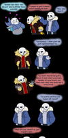 Undertale - so many Sanses by TC-96