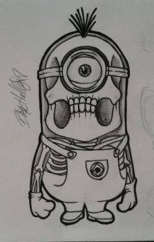 Xray Minion (quick doodle) by BioHally-Art