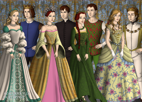 Tudor Non-Disney Princesses by Kathofel