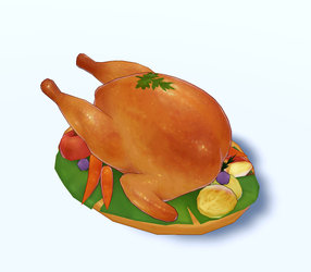 Roast Chicken - 3D Model Download by Daiyou-Uonome