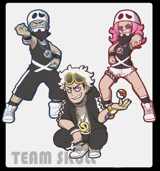 Team Skull acrylic charms by SoloAzume