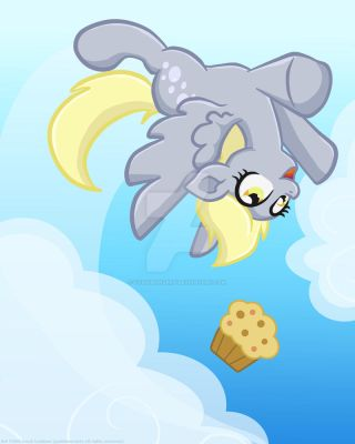 Derpy flips for Muffins! by yoshimarsart