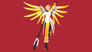 Overwatch Mercy Vector Wallpaper Commission by WalidSodki