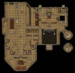 DND mansion map - 2nd Floor by r3v3r53d