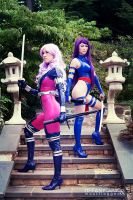 Psylocke and Revanche - X-men by Mostflogged