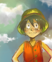 Monkey D. Luffy by young-sinner