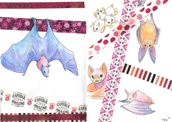 Bats and Washi Tape by chill13