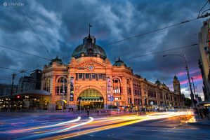 Melbourne City Lights by Furiousxr