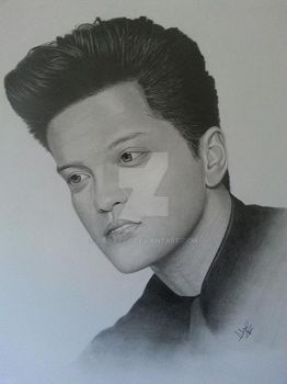 Bruno Mars Portrait by CroixArt