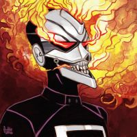 Daily Sketches Ghost Rider by fedde