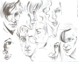 Doctor Who Sketchdump by Puck-Sexton