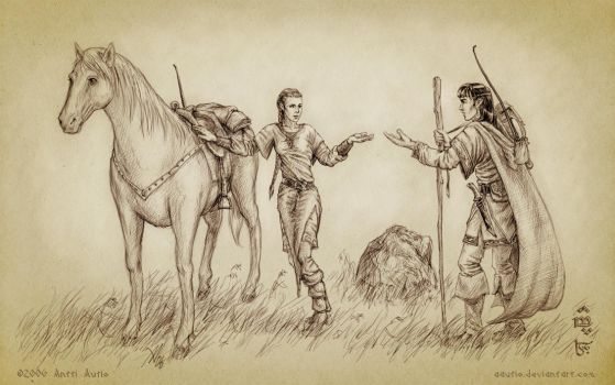 Meeting of Feanor and Nerdadel by aautio