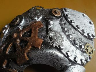 My First Steampunk Mask Detail by Maladict12