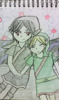 Dark Link and Link by Xion-Yami