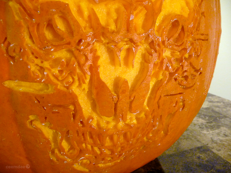 Icon of Sin Pumpkin Detail by ceemdee