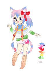 Rainbow Neko [Paypal Only!] by SheepieAdopts