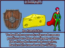 Colour Tips - Pixel Art Tutorial[gif] by aamatniekss