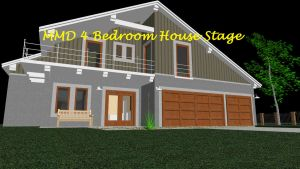 MMD 4 Bedroom House Stage ~converted in sketchup~ by xXFrenchToastXx