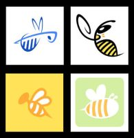 Color Bee Logos by yooki42