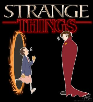 Doctor Strange x Stranger Things by tirmesaito