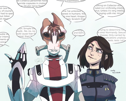Mass Effect: Lil' Chat with Mordin by PatchedTabby