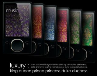 Zune Backgrounds: Luxury by p3p574r
