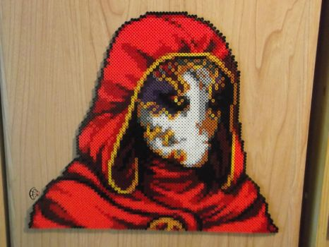 I have returned. Jack of Blades Perler Portrait by Cimenord