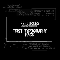 Rescurces Typography Pack 1 by rescurces
