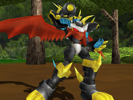 MMD NC - Imperialdramon Fighter Mode by Zeltrax987