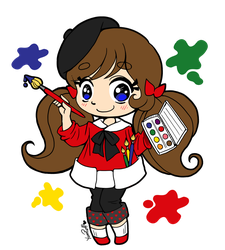 Little Artist Chibi by Rapsody