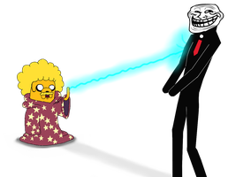 Jake and Troll Face by A-R-T-3-M-I-S