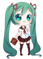 FREE Sailor Uniform Miku Pagedoll by rimuu