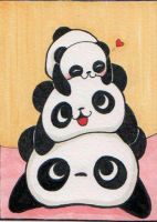 Panda Family by Jellyfish-Station