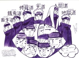 The Six Paths Of Pain - Naruto Shippuden by Markth23