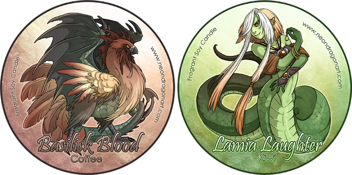 Basilisk Blood + Lamia Laughte by neondragon