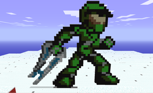 Block Master Chief by Hex-a-Dec