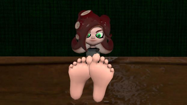 Octoling's feet (request) by hectorlongshot