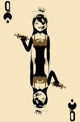 Bendy and the Ink Machine - Naipes - Spades Queen by kellenkyo