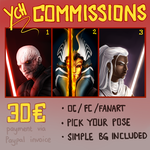 YCH COMMISSIONS open! by Varjopihlaja