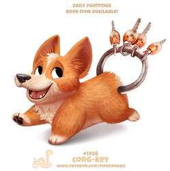 Daily Paint 1986# Corg-key by Cryptid-Creations